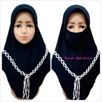 Jilbab Masker Hijab Anak Niqob Cadar Kepang