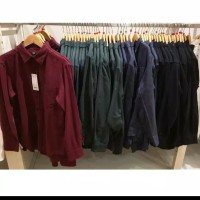 brand sale kemeja flannel uniqlo