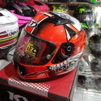 Helm KYT R10 Flat & Pin Lock Edt Race EDT #2 Andi Glng Rplc Rd FlUO/