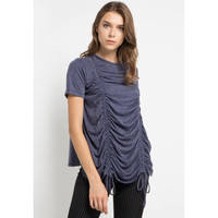 Blouse Wanita EDITION EBS2 Short Sleeve Woven NAVY