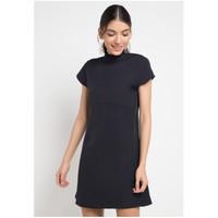 Dress Wanita EDITION ED67 Short Sleeveless BLACK