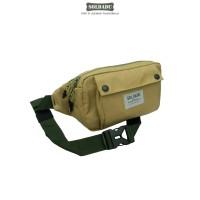 Authentic Bag EDC Pouch Flip Best Quality / Waist Bag / Tas Selempang - Tan