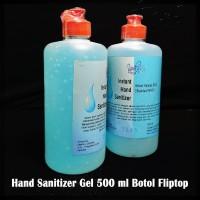 Hand Sanitizer Gel 80% 500ml Botol Fliptop (Gelnya Lebih Kental)