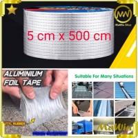 ORIGINAL Alumunium Foil Tape Anti Air Tahan Panas Bocor Perbaikan Atap