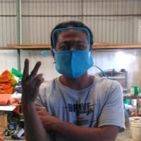 masker eye shield 2in1 spunbond googles kacamata 2 layer hijab