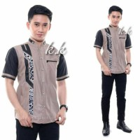 baju lebaran Koko lebaran motif terbaru baju Koko pendek baju pria - Sesuai Foto, XL