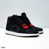 Nike Air Jordan 1 Black Satin 100% BNIB PERFECT PAIRS