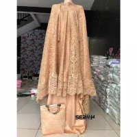 Mukena princess brukat import high quality / mukena prada