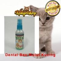 Dental Cat Premium Semprot Mulut kucing Penghilang Bau Mulut