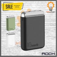 Rock Power Bank P71 Mini PD 10000 mAH 5V 2A alt Xiaomi Anker Robot - Hitam