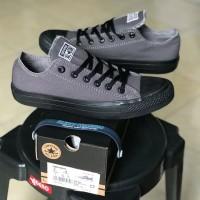 Sepatu Sneakers CONVERSE Ct Grey Sol Black Import Quality Made Vietnam - Abu-abu, 38