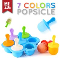 POPICE Ice Stick Loly Maker Cetakan Es Krim 7 Warna Silicone BPA-Free