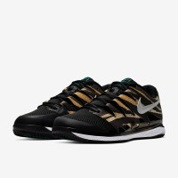 Sepatu Tenis Nike Air Zoom Vapor X HC - Wheat/Metallic Silver/Hyper Ja