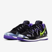 Sepatu Tenis Nike Air Zoom Vapor X Kyrie 5 - Black/Volt/Psychic Purple