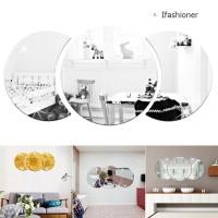 Ifas Stiker Dinding Desain Efek Cermin 3D untuk Dekorasi Ruang Tamu