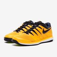 Sepatu Tenis Nike Air Zoom Vapor X HC - Universty Gold/Black/White/Vol