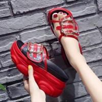 Sandal Flat Denim AA - FD14 Sandal Wanita Sendal Pita Selop