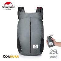 NatureHike 25L Tas Ransel Lipat Bahan Nilon 30D untuk Travel