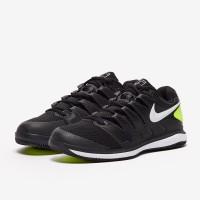 Sepatu Tenis Nike Air Zoom Vapor X HC - Black/White/Volt