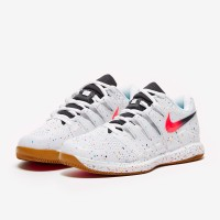 Sepatu Tenis Nike Air Zoom Vapor X HC - White/Laser Crimson/Oracle Aqu