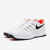 Sepatu Tenis Nike Air Zoom Vapor X HC - White/Black/Bright Crimson
