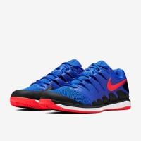 Sepatu Tenis Nike Air Zoom Vapor X HC - Racer Blue/Bright Crimson/Blac