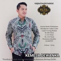 Dewanka Grey Kemeja Batik Pria Panjang Full Furing by Dewo