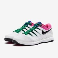 Sepatu Tenis Nike Air Zoom Vapor X HC - White/Black/Platinum Tint/Lase