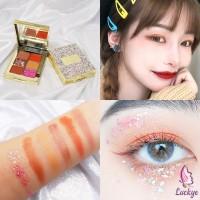 Kiss Kylie Palet Eyeshadow 6 Warna Coklat/Oranye/Earth