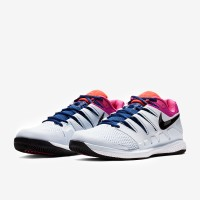 Sepatu Tenis Nike Air Zoom Vapor X HC - Half Blue/Black/White/Laser Fu