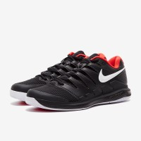 Sepatu Tenis Nike Air Zoom Vapor X HC - Black/White/Bright Crimson