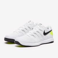 Sepatu Tenis Nike Air Zoom Vapor X HC - White/Black/Volt