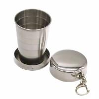 Gelas lipat portabel stainless steel gelas coffee camping outdoor