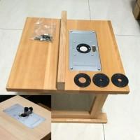 Dijual Plate Meja Bahan Aluminium Dengan 4 Sekrup untuk Kayu