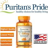 Puritan Pride Vitamin C 500 mg with Rose Hips 100 Caps Puritans New