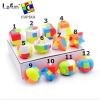 Gantungan Kunci Rubik Lefun Puzzle Murah Lucu Warna Warni Qiyi QY YJ