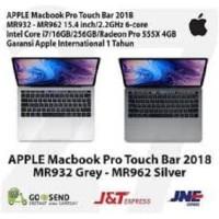 Apple MacBook Pro Touch Bar 2018 MR962 - MR932 15 inch 256GB - 16GB