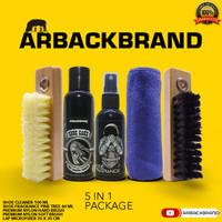 Pembersih Sepatu Arback shoe cleaner edisi Paket 5 in 1 NylonBrush