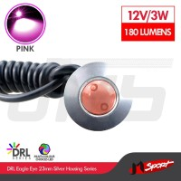 Lampu LED Mobil / Motor / Eagle Eye DRL White Housing 3W 23MM - Pink