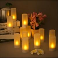 Lampu Lilin Led Gelas Diameter 4cm Tinggi 9cm