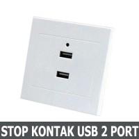 Stop Kontak Dinding 2 Port USB Wall Socket 2.1A