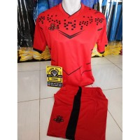 Jersey Stelan Futsal / Sepak Bola CN Merah Bintik