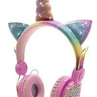 Headphone/headset/earphone unicorn lucu dngan microphone