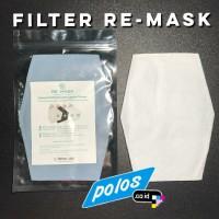 RE-MASK Filter Masker Kain (isi 4 lbr) lebih besar dari Filter PM 2.5