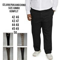 celana chino panjang katun pria reguler warna&ukuran jumbo komplit