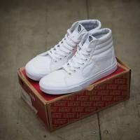Sepatu Pria dan Wanita Vans SK8-Hi Classic True White Original 100%