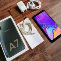SAMSUNG A7 2018 Black 4 - 64 Mulus Fullset Original SEIN BS Gosend