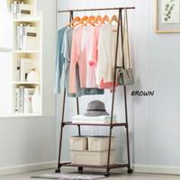 gantungan baju segitiga rak triangle stand hanger
