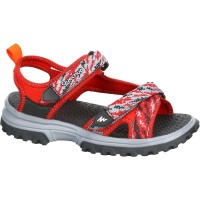 Sandal Hiking Anak QUECHUA MH120 JR KIDS' HIKING SANDALS - RED 8383355