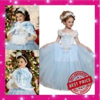 Dress Pesta Anak Motif Cinderella + Jubah / Dress Frozen Best seller!